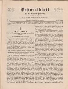 Pastoralblatt für die Diözese Ermland, 27.Jahrgang, 1. Mai 1895, Nr 5.
