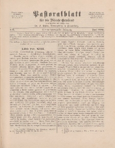 Pastoralblatt für die Diözese Ermland, 27.Jahrgang, 1. Juni 1895, Nr 6.