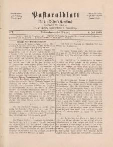 Pastoralblatt für die Diözese Ermland, 27.Jahrgang, 1. Juli 1895, Nr 7.