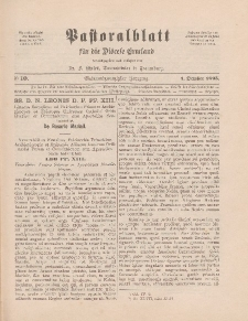 Pastoralblatt für die Diözese Ermland, 27.Jahrgang, 1. Oktober 1895, Nr 10.