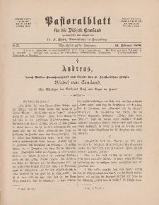 Pastoralblatt für die Diözese Ermland, 28.Jahrgang, 14. Februar 1896, Nr 3.