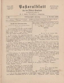 Pastoralblatt für die Diözese Ermland, 28.Jahrgang, 1. Dezember 1896, Nr 12.
