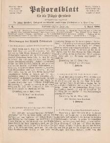 Pastoralblatt für die Diözese Ermland, 35.Jahrgang, 1. April 1903, Nr 4.