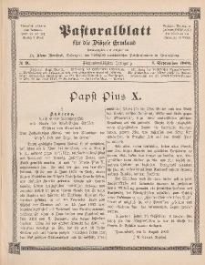 Pastoralblatt für die Diözese Ermland, 35.Jahrgang, 1. September 1903, Nr 9.