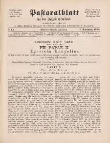 Pastoralblatt für die Diözese Ermland, 35.Jahrgang, 1. November 1903, Nr 11.