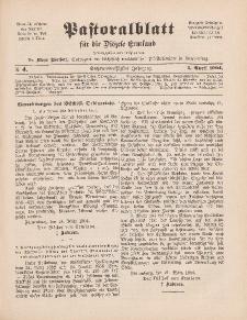 Pastoralblatt für die Diözese Ermland, 36.Jahrgang, 1. April 1904, Nr 4.