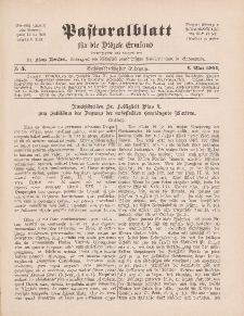 Pastoralblatt für die Diözese Ermland, 36.Jahrgang, 1. Mai 1904, Nr 5.
