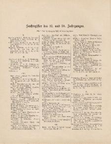 Pastoralblatt für die Diözese Ermland (Sachregister des 37 und 38 Jahrganges)
