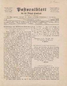 Pastoralblatt für die Diözese Ermland, 37.Jahrgang, 1. Januar 1905, Nr 1.