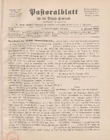 Pastoralblatt für die Diözese Ermland, 37.Jahrgang, 1. Februar 1905, Nr 2.