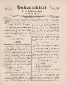 Pastoralblatt für die Diözese Ermland, 37.Jahrgang, 1. April 1905, Nr 4.
