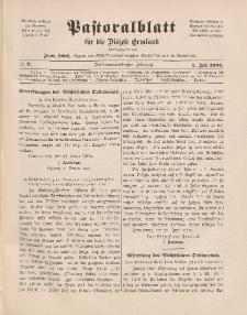 Pastoralblatt für die Diözese Ermland, 37.Jahrgang, 1. Juli 1905, Nr 7.