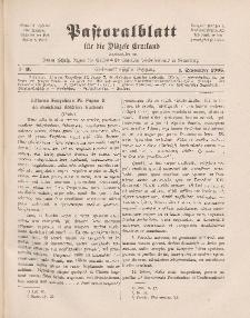 Pastoralblatt für die Diözese Ermland, 37.Jahrgang, 1. September 1905, Nr 9.