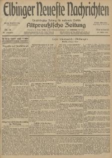 Elbinger Neueste Nachrichten, Nr. 79 Sonnabend 21 März 1914 66. Jahrgang