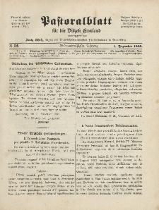 Pastoralblatt für die Diözese Ermland, 37.Jahrgang, 1. Dezember 1905, Nr 12.