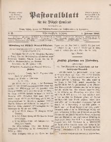 Pastoralblatt für die Diözese Ermland, 38.Jahrgang, 1. Februar 1906, Nr 2.
