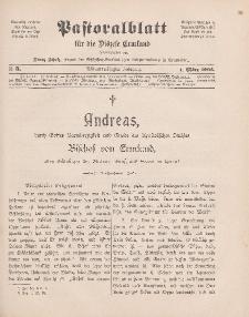 Pastoralblatt für die Diözese Ermland, 38.Jahrgang, 1. März 1906, Nr 3.