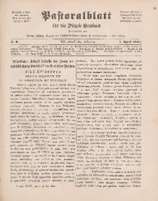 Pastoralblatt für die Diözese Ermland, 38.Jahrgang, 1. April 1906, Nr 4.
