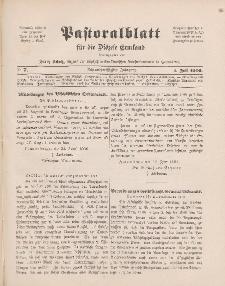 Pastoralblatt für die Diözese Ermland, 38.Jahrgang, 1. Juli 1906, Nr 7.