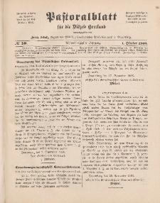 Pastoralblatt für die Diözese Ermland, 38.Jahrgang, 1. Oktober 1906, Nr 10.
