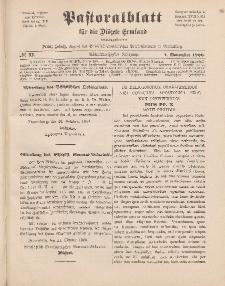 Pastoralblatt für die Diözese Ermland, 38.Jahrgang, 1. November 1906, Nr 11.