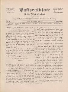 Pastoralblatt für die Diözese Ermland, 39.Jahrgang, 1. Mai 1907, Nr 5.