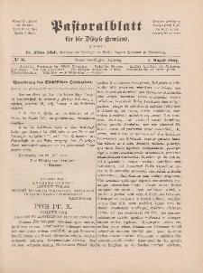 Pastoralblatt für die Diözese Ermland, 39.Jahrgang, 1. August 1907, Nr 8.