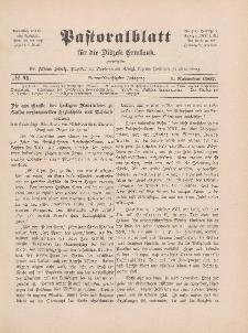 Pastoralblatt für die Diözese Ermland, 39.Jahrgang, 1. November 1907, Nr 11.