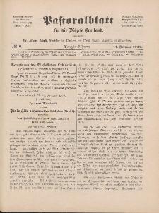 Pastoralblatt für die Diözese Ermland, 40.Jahrgang, 1. Februar 1908, Nr 2.