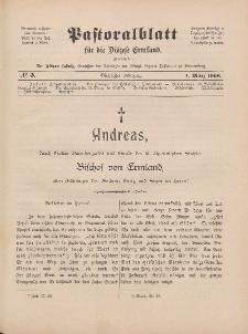 Pastoralblatt für die Diözese Ermland, 40.Jahrgang, 1. März 1908, Nr 3.