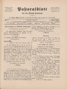 Pastoralblatt für die Diözese Ermland, 40.Jahrgang, 1. April 1908, Nr 4.