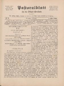 Pastoralblatt für die Diözese Ermland, 40.Jahrgang, 1. Mai 1908, Nr 5.