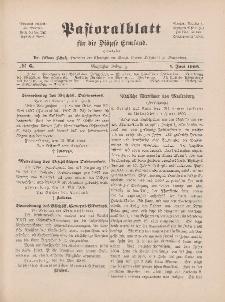 Pastoralblatt für die Diözese Ermland, 40.Jahrgang, 1. Juni 1908, Nr 6.
