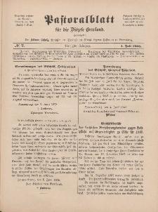 Pastoralblatt für die Diözese Ermland, 40.Jahrgang, 1. Juli 1908, Nr 7.