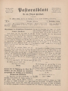 Pastoralblatt für die Diözese Ermland, 40.Jahrgang, 1. September 1908, Nr 9.