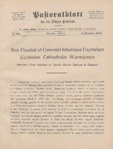 Pastoralblatt für die Diözese Ermland, 40.Jahrgang, 9. November 1908, Nr 11a.