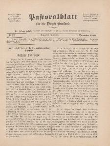 Pastoralblatt für die Diözese Ermland, 40.Jahrgang, 1. Dezember 1908, Nr 12.