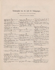 Pastoralblatt für die Diözese Ermland (Sachregister des 41 und 42 Jahrganges)