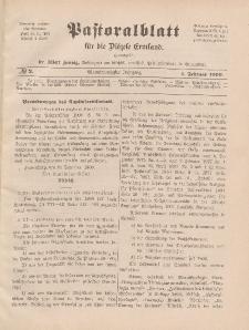 Pastoralblatt für die Diözese Ermland, 41.Jahrgang, 1. Februar 1909, Nr 2.