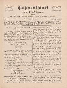 Pastoralblatt für die Diözese Ermland, 41.Jahrgang, 1. April 1909, Nr 4.