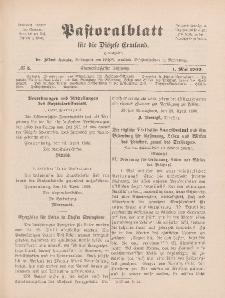 Pastoralblatt für die Diözese Ermland, 41.Jahrgang, 1. Mai 1909, Nr 5.