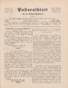 Pastoralblatt für die Diözese Ermland, 41.Jahrgang, 1. Juni 1909, Nr 6.