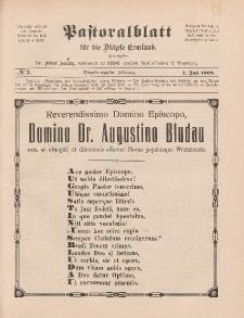 Pastoralblatt für die Diözese Ermland, 41.Jahrgang, 1. Juli 1909, Nr 7.