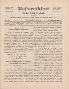 Pastoralblatt für die Diözese Ermland, 41.Jahrgang, 1. November 1909, Nr 11.
