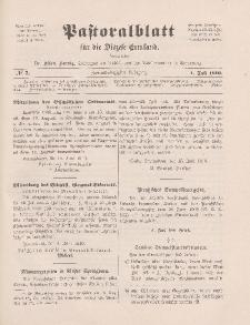 Pastoralblatt für die Diözese Ermland, 42.Jahrgang, 1. Juli 1910, Nr 7.