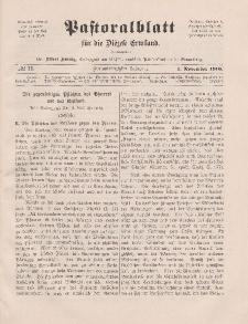 Pastoralblatt für die Diözese Ermland, 42.Jahrgang, 1. November 1910, Nr 11.
