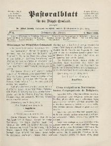 Pastoralblatt für die Diözese Ermland, 43.Jahrgang, 1. April 1911. Nr 4
