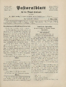 Pastoralblatt für die Diözese Ermland, 44.Jahrgang, 1. März 1912. Nr 3