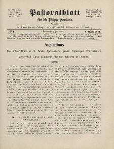Pastoralblatt für die Diözese Ermland, 44.Jahrgang, 1. April 1912. Nr 4