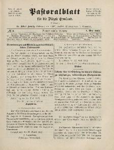 Pastoralblatt für die Diözese Ermland, 44.Jahrgang, 1. Mai 1912. Nr 5